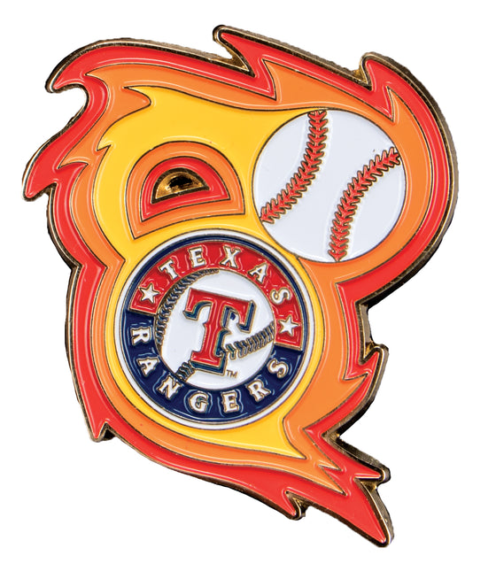 Texas Rangers 'Bring the Heat' Collectible Pin