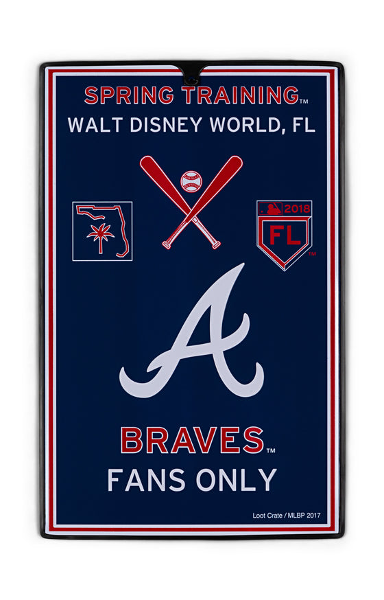 Atlanta Braves Metal Sign