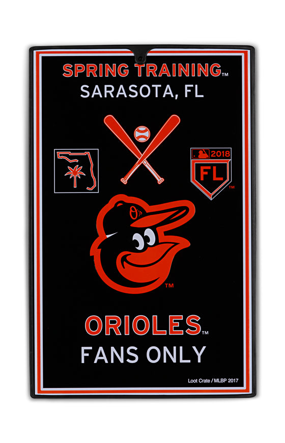 Baltimore Orioles Metal Sign