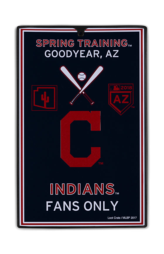 Cleveland Indians Metal Sign