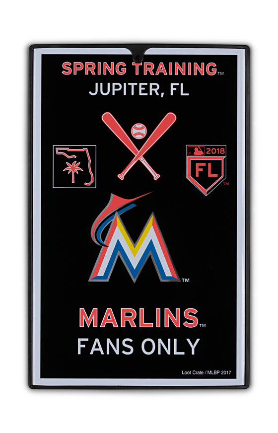 Miami Marlins Metal Sign