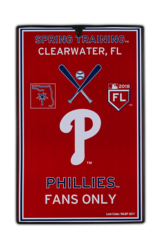 Philadelphia Phillies Metal Sign
