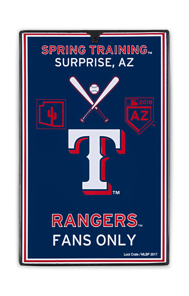 Texas Rangers Metal Sign