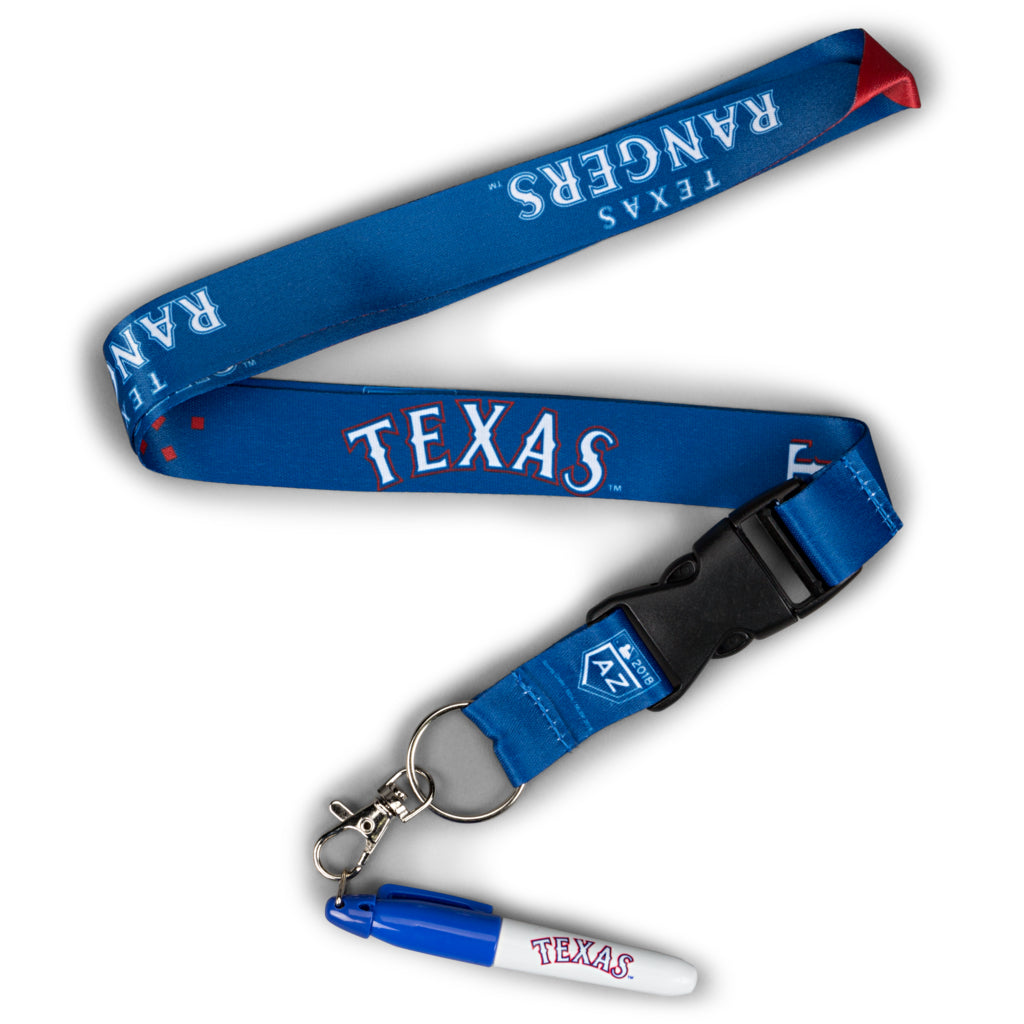 Texas Rangers Signing Marker with Lanyard