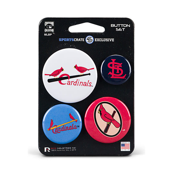 St. Louis Cardinals Retro Button 4 Pack