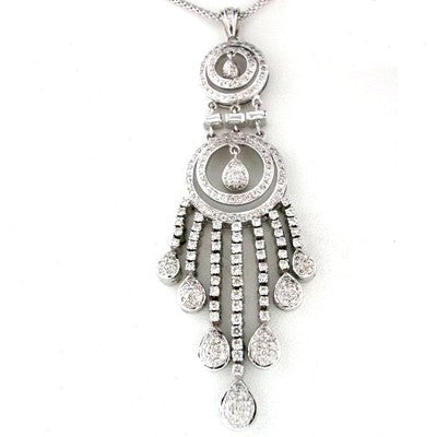 Diamond Chandelier Pendant 14kt White Gold