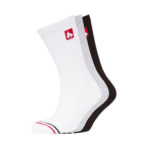 Apeline Sports Socks 3pk - Black/Grey/White