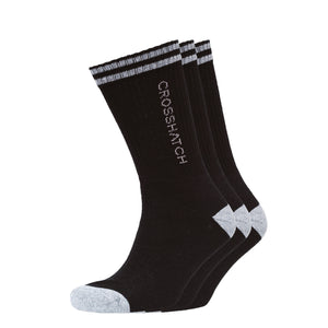 Balance Sports Socks 3pk - Black