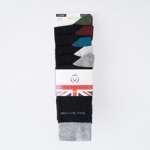 Kinsley Socks - Light Grey Marl/Dark Grey 3pk