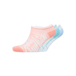 Ladies Coralreef Trainer Socks 3pk - Assorted