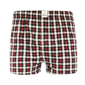 Checkrow Woven Boxers 3pk - Black Check