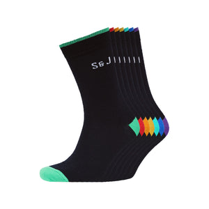 Moonbow Socks 7pk - Black