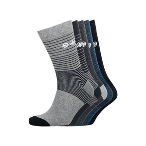 Barnby Socks 5pk - Black/Grey