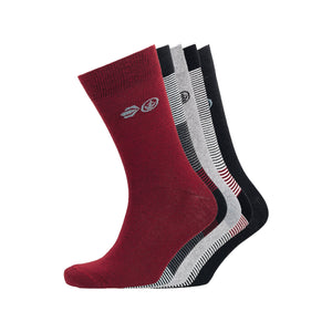 Bedale Socks 5pk - Black/Syrah