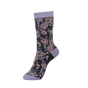 Ladies Wild Flower Socks 3pk - Assorted
