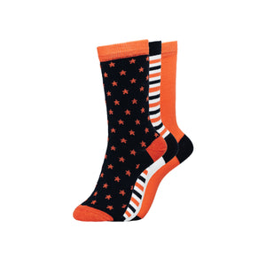 Ladies Starlight Socks 3pk - Assorted