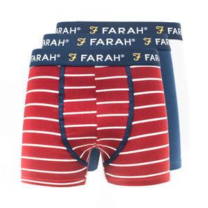 Purvis Boxers 3pk - Yale/P.Red/White