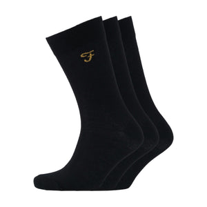 Astley Socks 3pk - Black