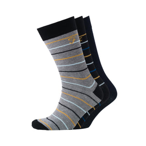 Marston Socks 3pk - Black/Charcoal Marl