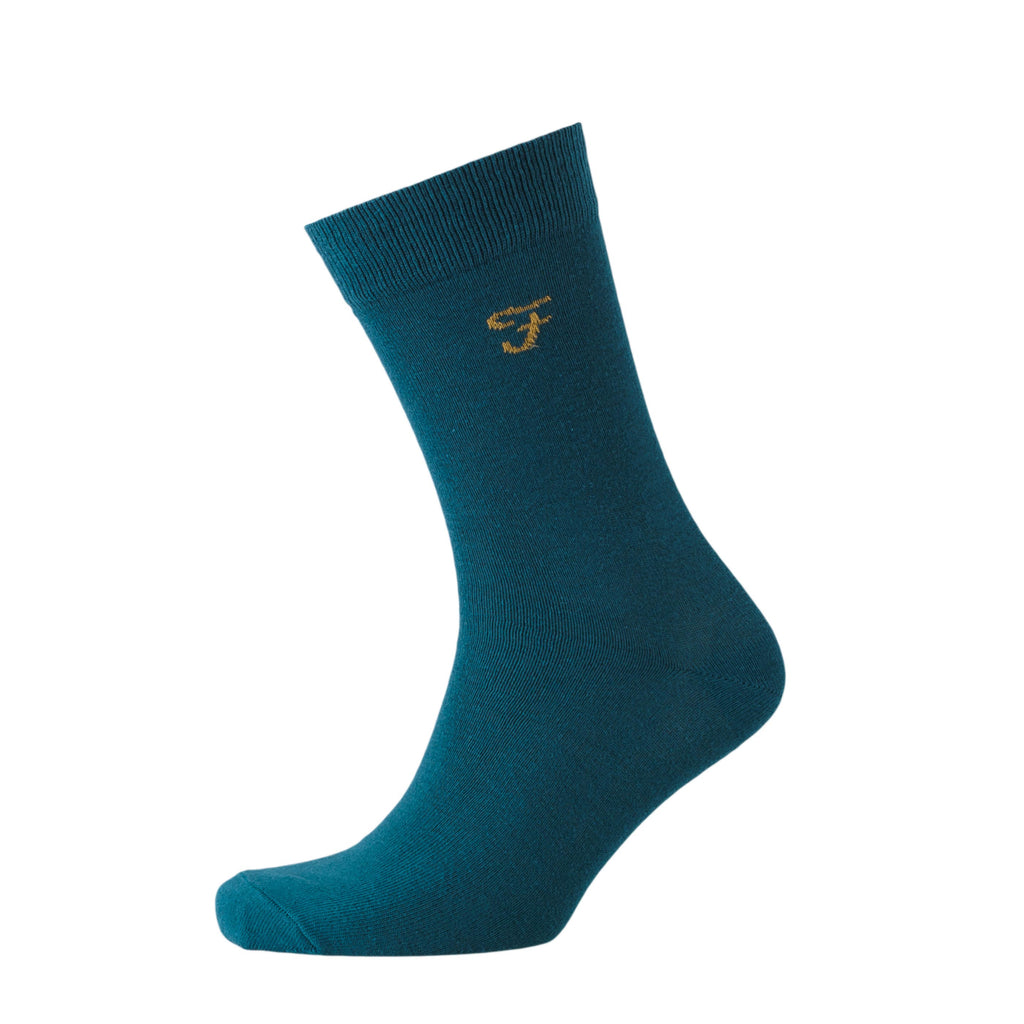 Norton Socks 3pk - Moss Green/Cornflower Blue