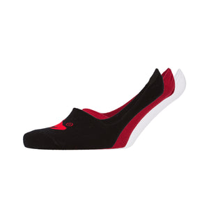 Invisape Socks 3pk - White/Red/Black