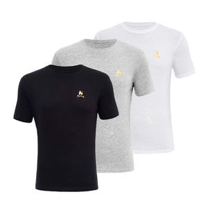 Aurous Lounge Tees 3pk - Black/Grey/White