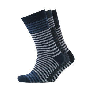 Kirby Socks 7pk - Black/Navy Blazer/Charcoal Marl