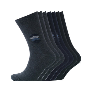 Peveril Socks 7pk - Black/Navy Blazer/Charcoal Marl