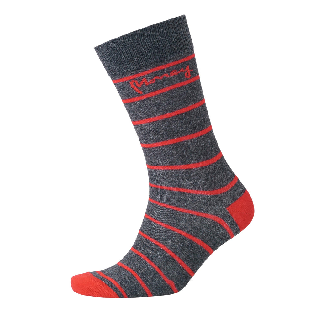 Sig Striped Socks 3pk - Charcoal Marl Mix