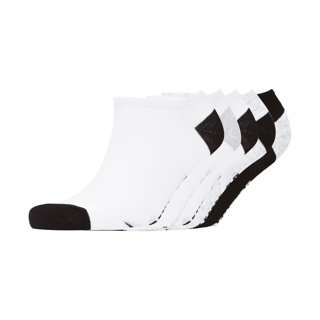 Mortehoe Trainer Socks 5pk - Black/White/Grey