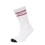 On The Line Sports Socks 3pk - Black/Grey/White