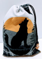 Handmade Embroidered Bag| Customized Gift Bags| Native American Style| Wolf - Baby See See