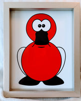 High Contrast Baby Art| Nursery Wall Art| Infant Visual Stimulation| Duck2 - Baby See See