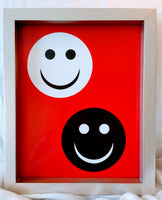 High Contrast Baby Art| Nursery Wall Art| Infant Visual Stimulation| Smile - Baby See See