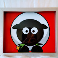 High Contrast Baby Art| Nursery Wall Art| Infant Visual Stimulation| Sheep - Baby See See