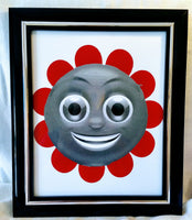 High Contrast Baby Art| Nursery Wall Art| Infant Visual Stimulation| Flower - Baby See See
