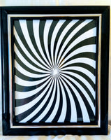 High Contrast Baby Art| Nursery Wall Art| Infant Visual Stimulation| Swirl - Baby See See