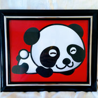 High Contrast Baby Art| Nursery Wall Art| Infant Visual Stimulation| Panda2 - Baby See See