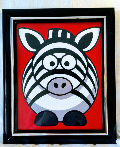 High Contrast Baby Art| Nursery Wall Art| Infant Visual Stimulation| Zebra - Baby See See