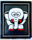 High Contrast Baby Art| Nursery Wall Art| Infant Visual Stimulation| Elephant - Baby See See