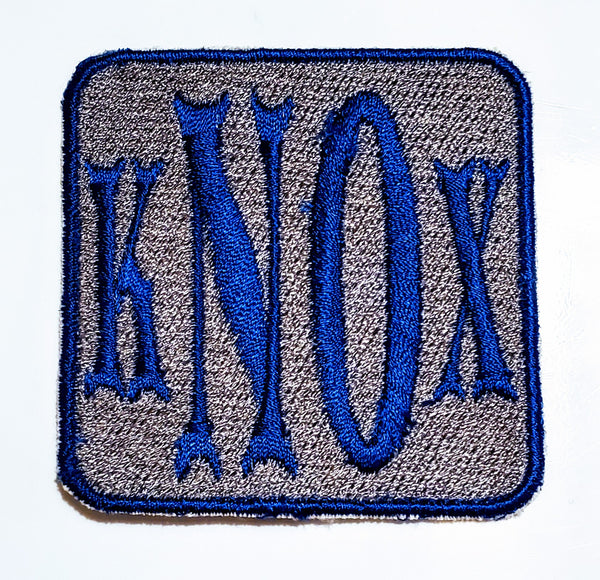 "Iron On Patch - 3 or 4 Letter Monogram - 2 Color - Square 2.5"" x 2.5"""