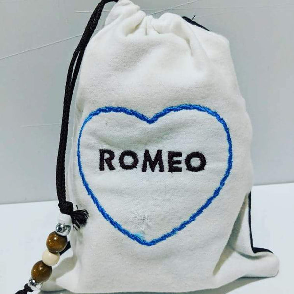 Handmade Embroidered Bag | Personalized Gift Bag | Valentine's Day | Romeo - Baby See See