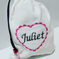 Handmade Embroidered Bag | Personalized Gift Bag | Valentine's Day  Gift idea| Juliet - Baby See See
