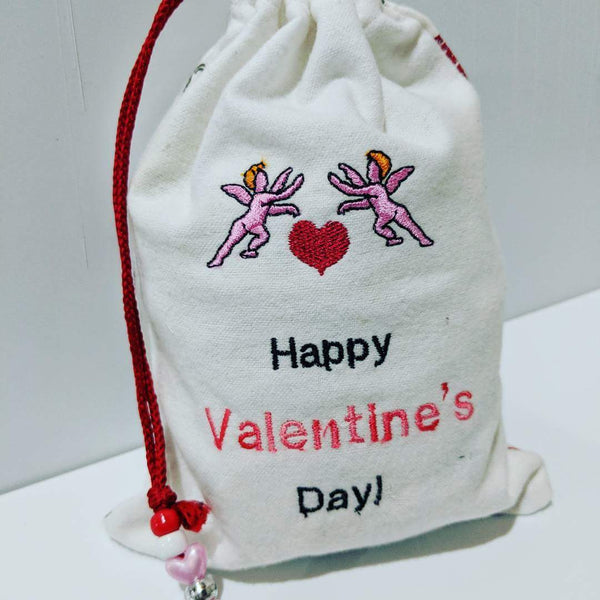 Handmade Embroidered Bag | Personalized Gift Bag | Valentine's Day | Cupids - Baby See See