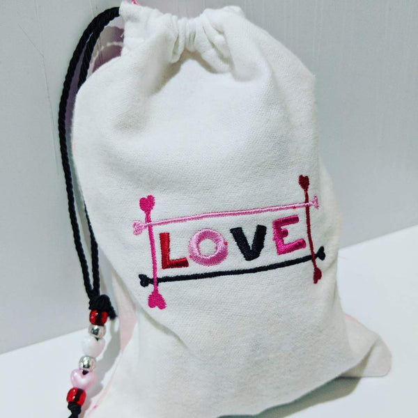 Handmade Embroidered Bag | Personalized Gift Bag | Valentine's day | Love - Baby See See