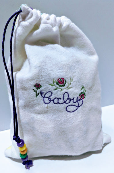 Handmade Embroidered Bag | Customized Gift Bags |Baby Shower Gift Bags for Guests|Neutral Baby - Baby See See