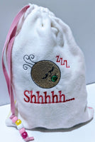 Handmade Embroidered Bag | Customized Gift Bags|Baby Shower Gift Bags for Guests|Sleeping Baby - Baby See See