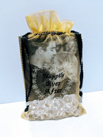 50 pcs- Personalized Embroidered Organza, Luxury Organza Wedding Favor Gift Bags - Baby See See