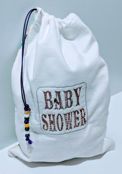 Handmade Embroidered Bag | Customized Gift Bags| Baby Shower Gift Bags for Guests| Baby Shower - Baby See See