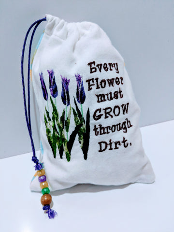 Handmade embroidered personalized gift bag easter gift bags handmade embroidered personalized gift bag easter gift bags spring drawstring bags dirt negle Choice Image